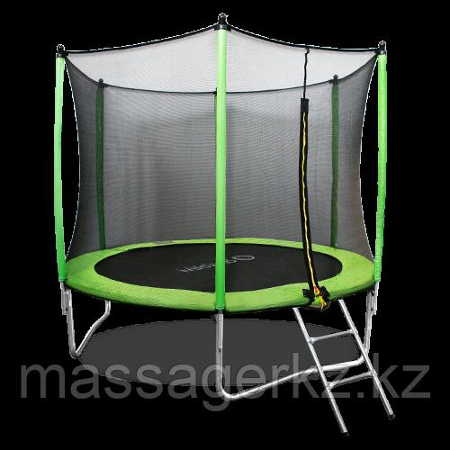 ARLAND Батут 8FT с внешней страховочной сеткой и лестницей (Light green)
