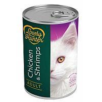 Консервы Lovely Hunter Adult Chicken&Shrimps для взрослых ккошек (Креветки и курица) - 400 г