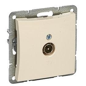 Розетка WDE000291 TV антенна коннектор 0,7 DB, мех-м, бежевый Wessen