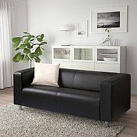 КЛИППАН 2-местный диван, Бумстад черный, Бумстад черный, фото 1