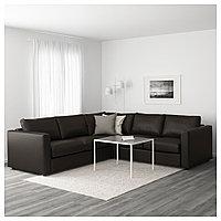 ВИМЛЕ 4-местный угловой диван, Фарста черный, Фарста черный, фото 1