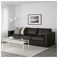 ВИМЛЕ 3-местный диван, Фарста черный, Фарста черный, фото 1