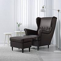 СТРАНДМОН Кресло с подголовником, Гранн/Бумстад темно-коричневый, Гранн/Бумстад темно-коричневый, фото 1