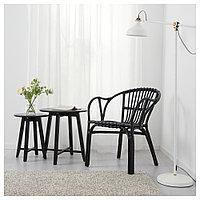 ХОЛЬМСЕЛЬ Кресло, черный, черный, фото 1