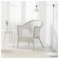 ФИННТОРП Кресло, белый, белый, фото 1