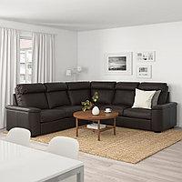 ЛИДГУЛЬТ 5-местный угловой диван, Гранн/Бумстад темно-коричневый, Гранн/Бумстад темно-коричневый, фото 1