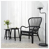 СТУРСЕЛЕ Кресло c высокой спинкой, черный, ротанг, черный, фото 1