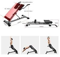 Гиперэкстензия тренажер для мыщцы спины полностью регулируемый складная римский стул