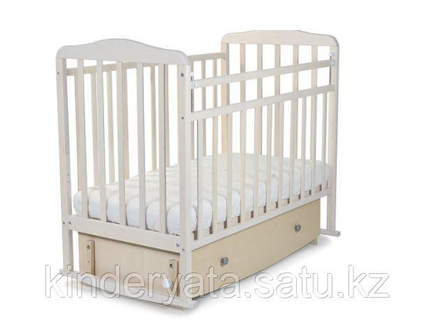 Кровать детская СКВ Митенька New с ящиком и маятником