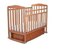 Кровать детская Митенька New с ящиком и маятрником цвет Орех