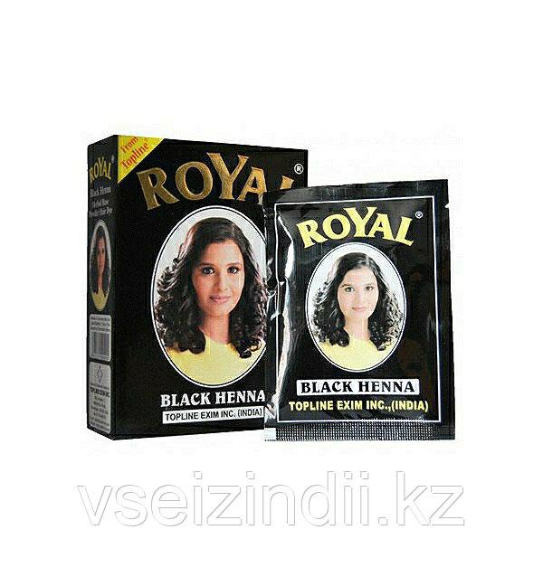 Индийская хна Royal Henna цвет Чёрный, Black