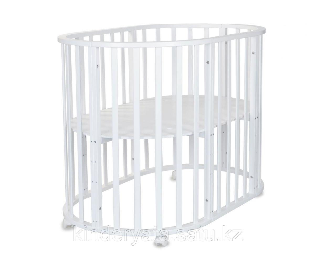 Круглая-овальная кровать трансформер 7 в 1 СКВ-10