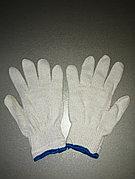 Перчатки х/б белые плотные