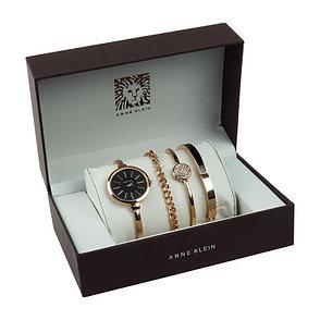 Часы в подарочной упаковке Anne Klein золотистый + черный, фото 2