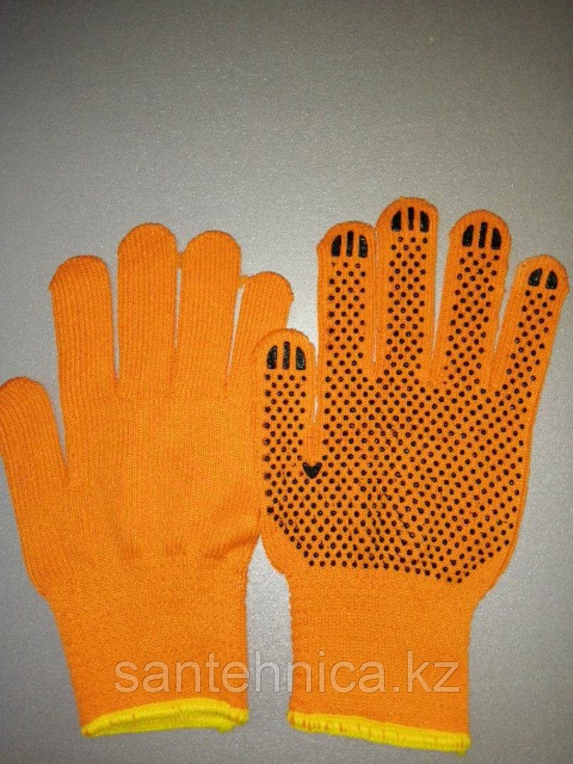 Перчатки оранж. т.