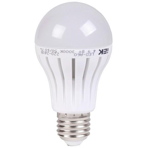 Лампа светодиодная A60 шар 4,9 Вт 400Лм 230В 3000К Е27 ИЭК eco