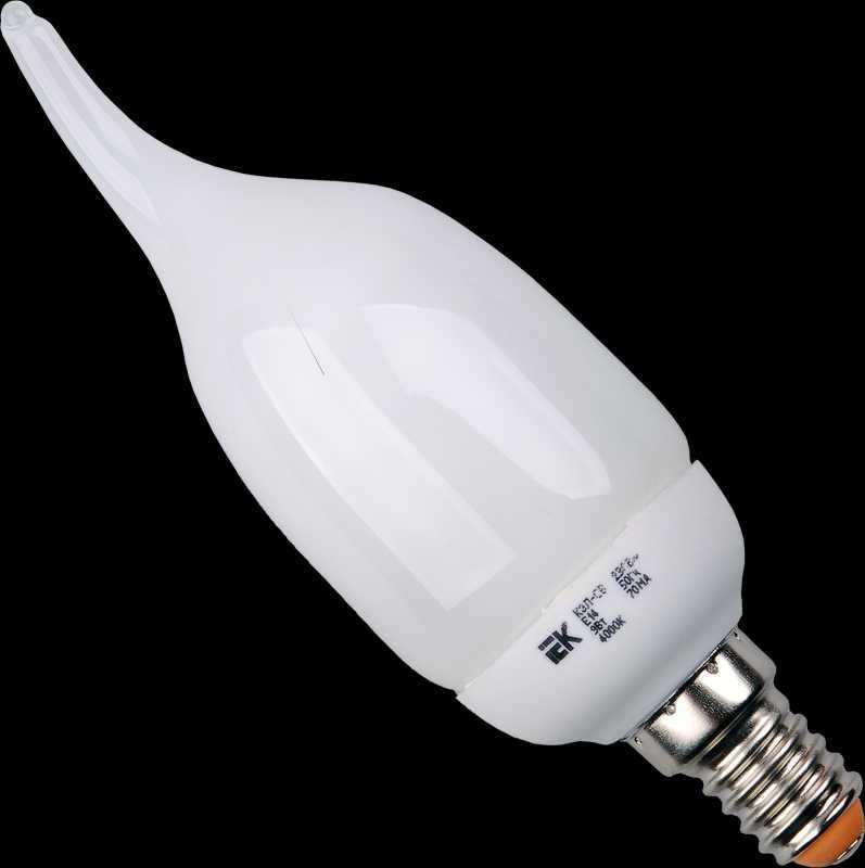 Лампа свеча КЭЛ-CВ Е14 9Вт 4000К ИЭК