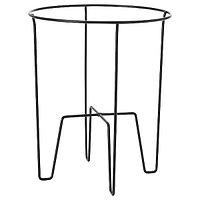 Пьедестал для цветов СВАРТПЕППАР черный, 26 см ИКЕА, IKEA
