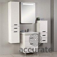 Акватон Америна 60М см, цвет белый зеркальный шкаф