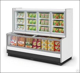 Холодильная витрина SE торец обзорный двухобъемный с раздельным испарителем