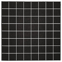Ковер безворсовый СВАЛЛЕРУП черный, белый 200x200 см ИКЕА, IKEA, фото 1