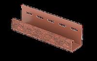 J-планка Стоун-хаус Кирпич КРАСНЫЙ, Длина 3050 мм, фото 1