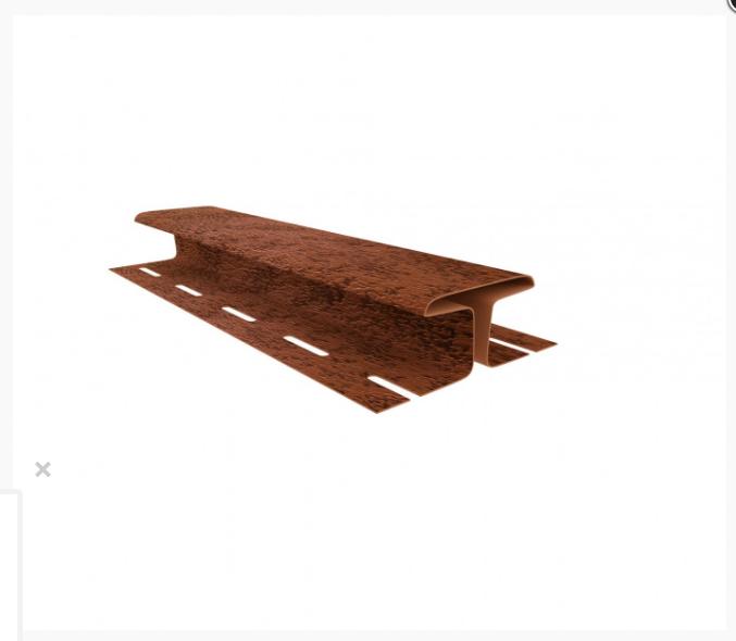 Н-планка Стоун-хаус Кирпич КРАСНЫЙ  / Соединительная планка / H профиль, Длина 3050 мм
