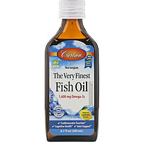 Carlson Labs, Norwegian, The Very Finest Fish Oil, Natural Lemon Flavor, 1,600 mg, 6.7 fl oz (200 ml)