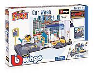 Парковка Bburago Go Gear с мойкой + 1 машинка