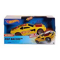 Машинка Hot Wheels Pop Racers 13 см желтая, фото 1