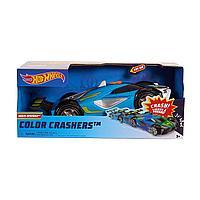 Машинка Hot Wheels Race N Crash 20 см со звуковыми и световыми эффектами сине-зеленая, фото 1