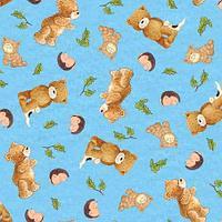 Ткань 100% американский хлопок, Серия Медвежата