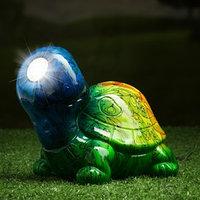 Садовый светильник 'Черепаха' на солнечной батарее, 13 см