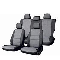 Чехлы сиденья Mazda 3/ Mazda Axela 2003-2009 Жаккард 14 предметов Skyway Черный/Серый