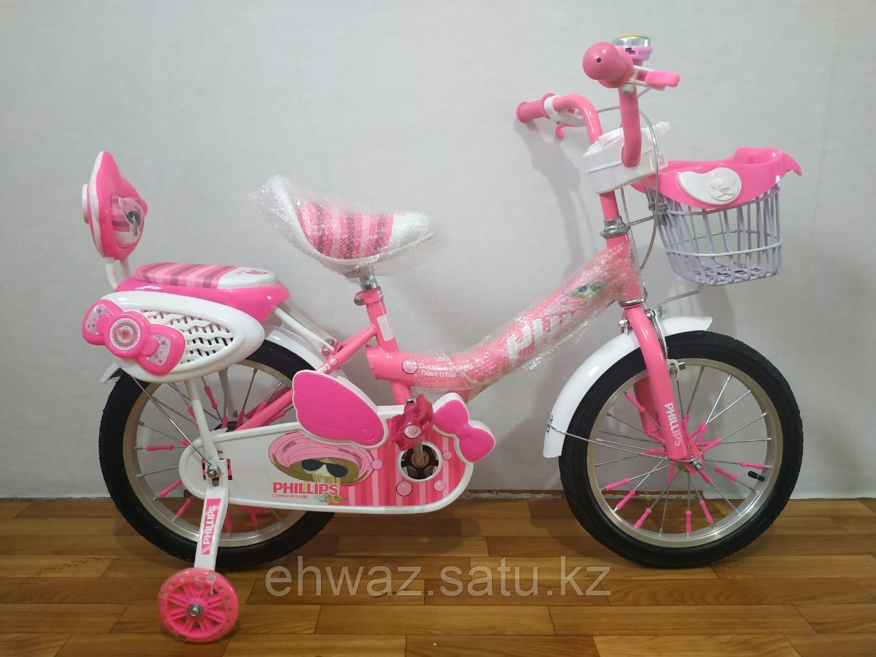 """Детский велосипед для девочек PHILLIPS 14"""""""