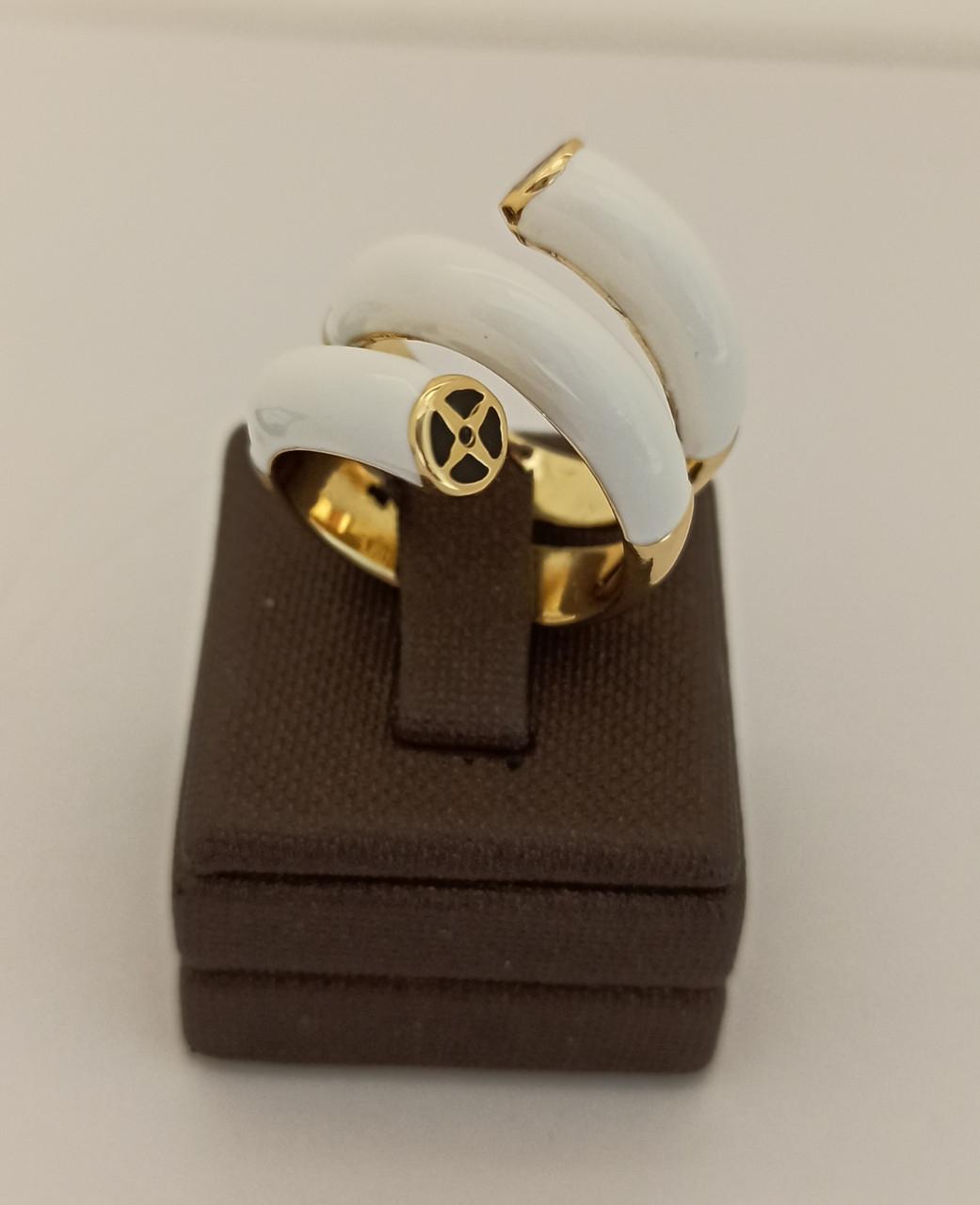 Кольцо с золотым покрытием