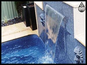 Стеновые водопады для бассейна
