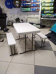 Туристический стол с лавками в комплекте 105х65, доставка