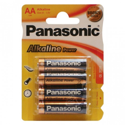 Батарейки Panasonic Alkaline Power LR6APB/4BP (S) AA 1,5V (4шт)