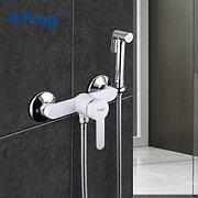 Смеситель с гигиеническим душем Frap F2041-8 белый