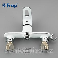 Смеситель с гигиеническим душем Frap F2049 белый, фото 2
