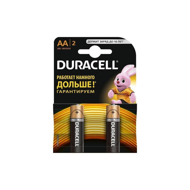 Батарейка DURACELL Basic АА 2шт LR6 (пальчиковые)