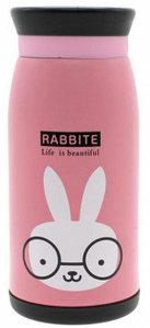 Термос бутылочка 0,5 л Кролик