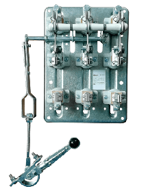 Рубильник РПС-4 400А без ПН левый