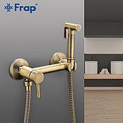 Смеситель с гигиеническим душем Frap F7503-4 бронза (не золото)