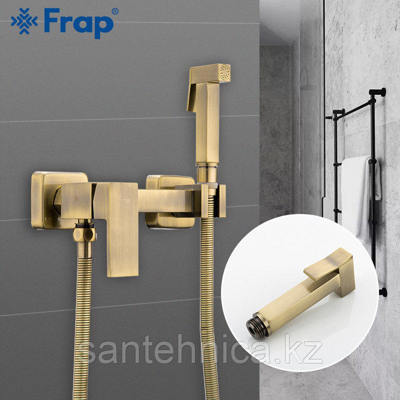 Смеситель с гигиеническим душем Frap F7504-4 бронза