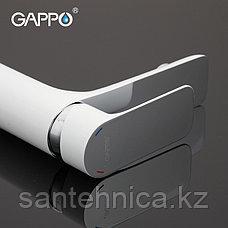 Смеситель для раковины Gappo G1048 белый, фото 2