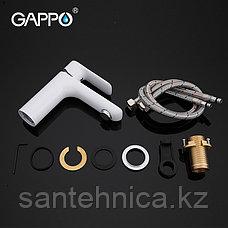 Смеситель для раковины Gappo G1048 белый, фото 3