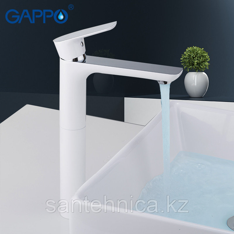 Смеситель для раковины Gappo G1048-2 белый