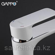 Смеситель для раковины Gappo G1048-2 белый, фото 3